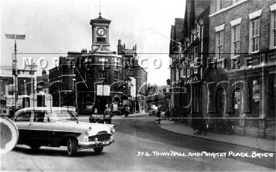 Town Hall and Market Place, Brigg.