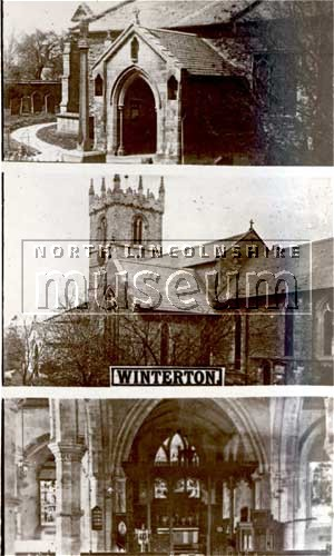 Three views of All Saints' Church, Winterton