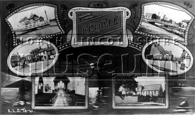 Composite post card of scenes of Crowle