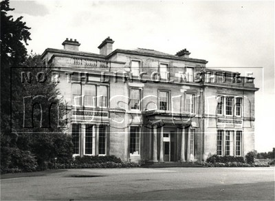 Main frontage of Normanby Hall looking south east in August 1985.