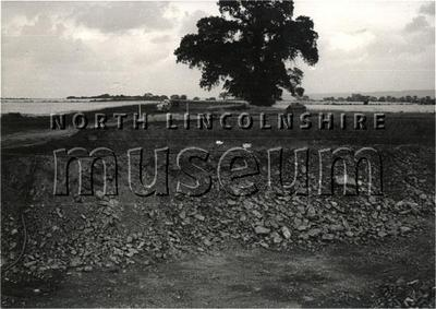 View of Richard Thomas and Baldwin's Coleby Mine, north of Scunthorpe, on 26 July 1960