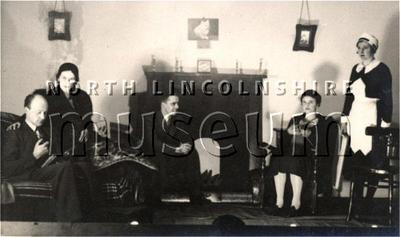 Scene from a Barton-upon-Humber amateur dramatic production c. mid-1930's