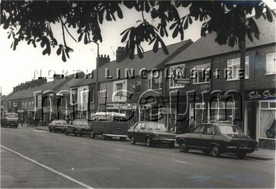 Shops in Ashby High Street on 2 May 1975