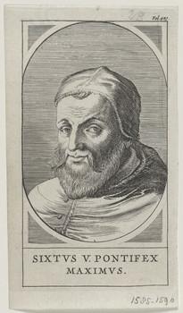 Bildnis des Sixtvs V. Pontifex Maximvs