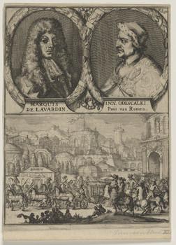 Doppelbildnis des Henri de Lavardin und des Inn. Odescalki, Paus van Romen