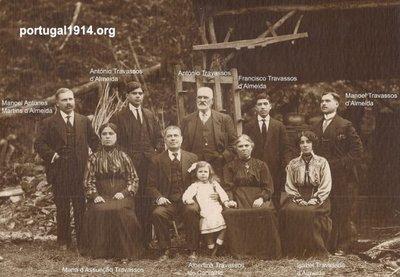 A família de António Travassos de Almeida