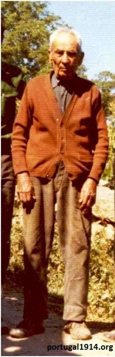António Pereira dos Santos em 1974, com 79 anos