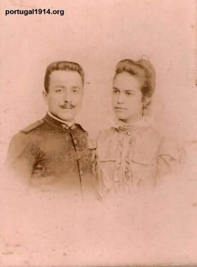 José Luís dos Santos e sua esposa