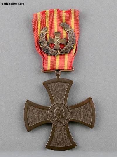 Cruz de Guerra atribuída a Manuel Joaquim de Oliveira, falecido no Augusto Castilho
