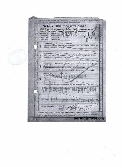 Boletins de alterações de José Joaquim Machado Guimarães Júnior