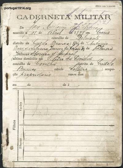 Liga dos Combatentes - caderneta nº 2
