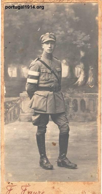 Bernardino Machado (filho), fardado e em França