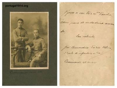 José Bernardino Falcão Ribeiro e um seu camarada, em 1915