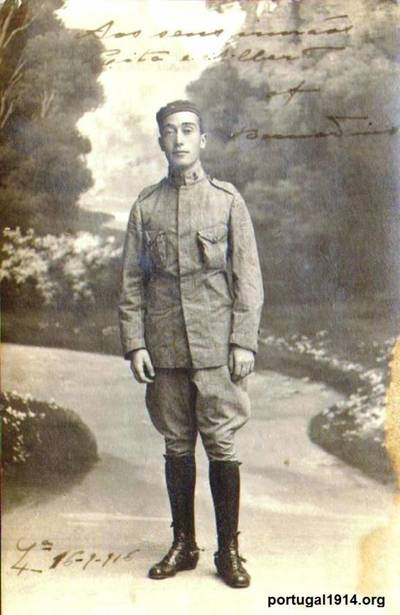 Bernardino Machado (filho) durante os tempos de recruta