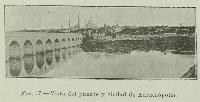 Vista del puente y ciudad de Adrianopolis