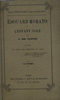 Edouard Morato ou l'enfant volé