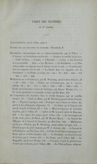 La Vérité israélite : recueil d'instruction religieuse. Vol. 1 Table des matières (1860)