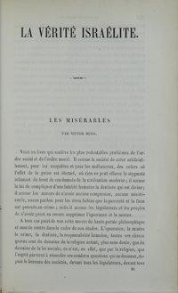 La Vérité israélite : recueil d'instruction religieuse. Vol. 7 n° 16 (1er mai 1862)