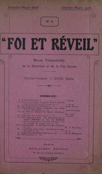 Foi et réveil : revue trimestrielle de la doctrine et de la vie juives. Vol. 2 n° 6 (janvier-mars 1918)