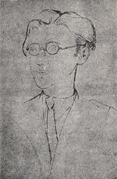 Avrom Sutskever. portrait