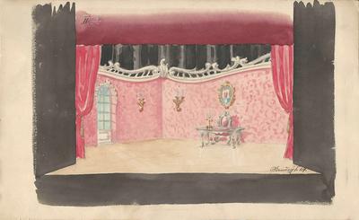 Martin Krpan, Lutkovno gledališče Ljubljana, 1950. Skica 5