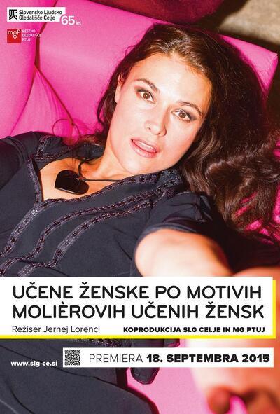 Avtorski projekt, Učene ženske po motivih Molièrovih Učenih žensk, Slovensko ljudsko gledališče Celje in Mestno gledališče Ptuj, 2015/2016. Plakat 4
