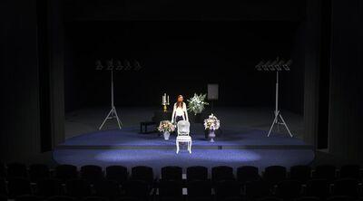 Avtorski projekt, Učene ženske po motivih Molièrovih Učenih žensk, Slovensko ljudsko gledališče Celje in Mestno gledališče Ptuj, 2015/2016. Scenska skica 6