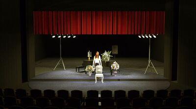 Avtorski projekt, Učene ženske po motivih Molièrovih Učenih žensk, Slovensko ljudsko gledališče Celje in Mestno gledališče Ptuj, 2015/2016. Scenska skica 10