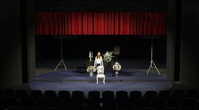 Avtorski projekt, Učene ženske po motivih Molièrovih Učenih žensk, Slovensko ljudsko gledališče Celje in Mestno gledališče Ptuj, 2015/2016. Scenska skica 12