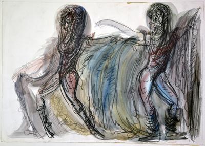 Marij Kogoj: Black Masks, unrealised production. Sketch 1