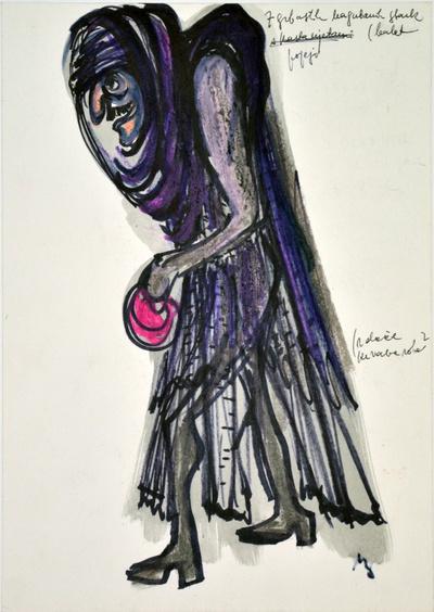 Marij Kogoj: Črne maske, unrealised production. Sketch 3
