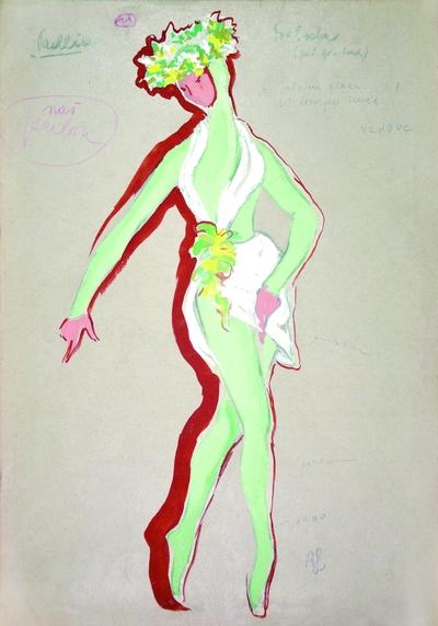 Marjan Kozina: Tryptich: Blood Dance, Mourning Dance, Spring Dance. Sketch 3