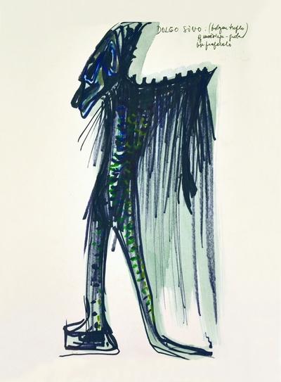Marij Kogoj: Black Masks, unrealised production. Sketch 4