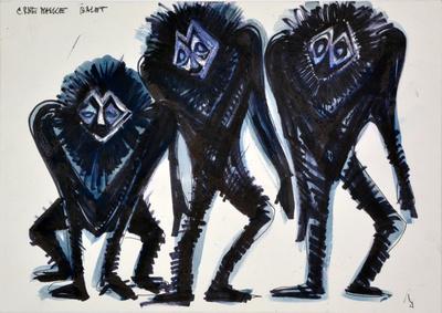 Marij Kogoj: Black Masks, unrealised production. Sketch 5