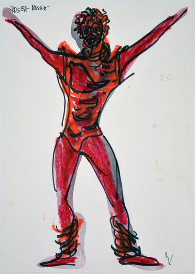 Marij Kogoj: Black Masks, unrealised production. Sketch 6
