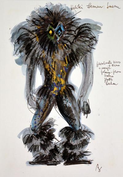 Marij Kogoj: Black Masks, unrealised production. Sketch 9