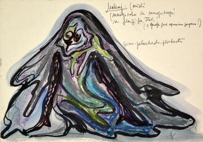Marij Kogoj: Black Masks, unrealised production. Sketch 10