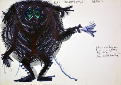 Marij Kogoj: Black Masks, unrealised production. Sketch 11