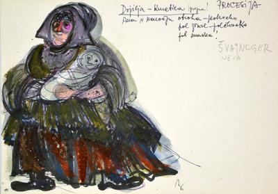 Marij Kogoj: Black Masks, unrealised production. Sketch 12