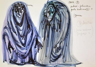 Marij Kogoj: Black Masks, unrealised production. Sketch 13