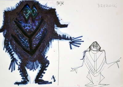 Marij Kogoj: Black Masks, unrealised production. Sketch 14