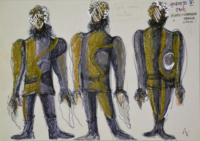 Marij Kogoj: Black Masks, unrealised production. Sketch 15