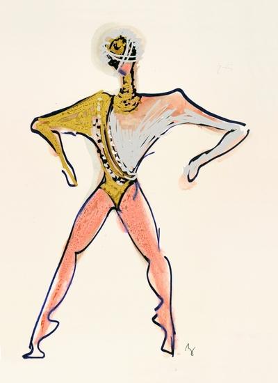 Kogoj: Black Masks, unrealised production. Sketch 17