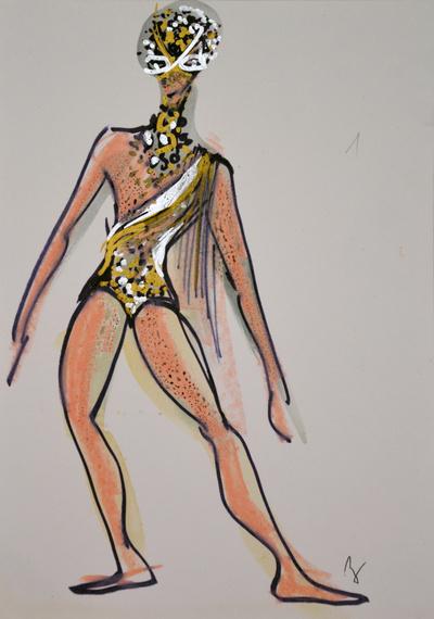 Marij Kogoj: Black Masks, unrealised production. Sketch 18
