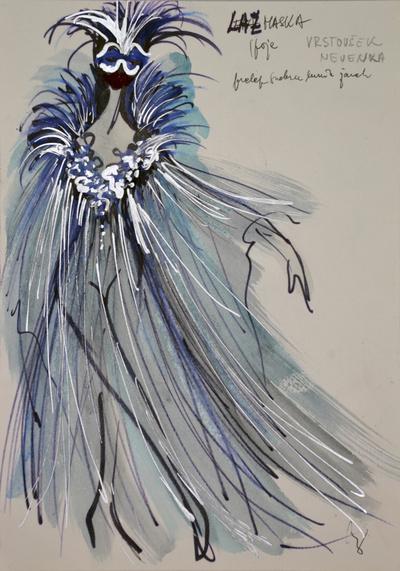 Marij Kogoj: Black Masks, unrealised production. Sketch 19