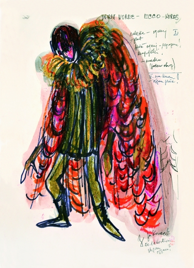 Marij Kogoj: Black Masks, unrealised production. Sketch 20