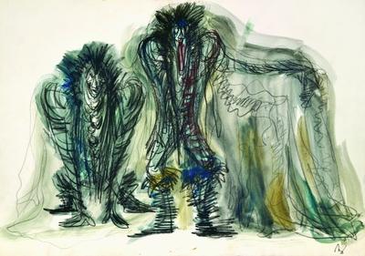 Marij Kogoj: Black Masks, unrealised production. Sketch 2