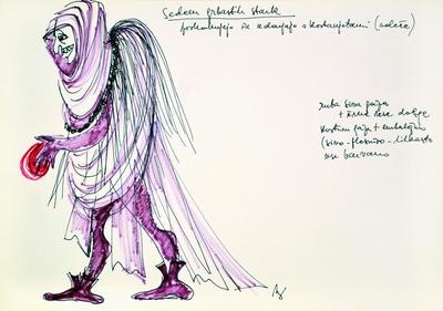 Marij Kogoj: Black Masks, unrealised production. Sketch 21