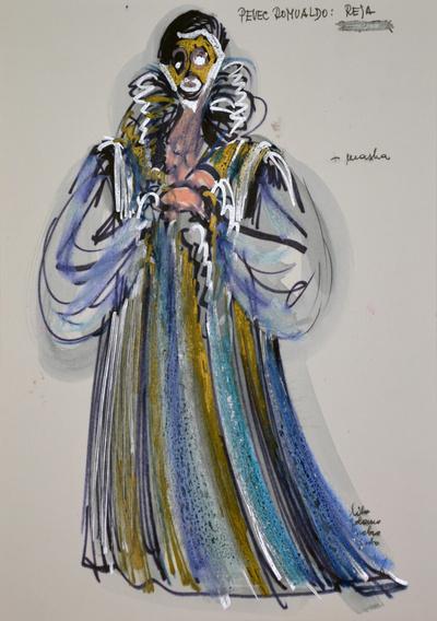 Marij Kogoj: Black Masks, unrealised production. Sketch 22