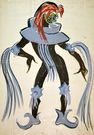 Marij Kogoj: Black Masks. Sketch 2